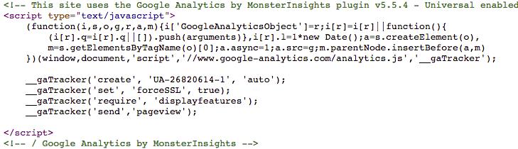 Google Analytics Snippet
