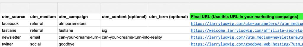 UTM Spreadsheet