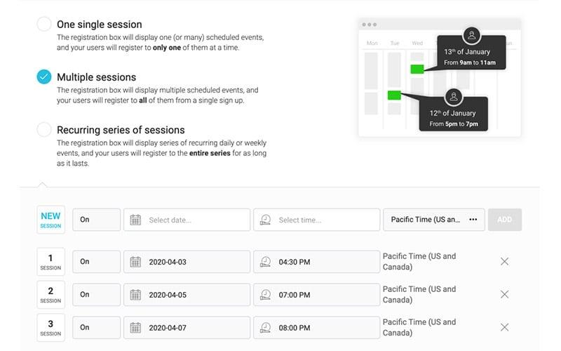 WebinarJam - Flexible Scheduling
